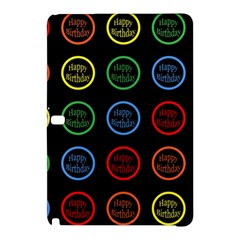 Happy Birthday Colorful Wallpaper Background Samsung Galaxy Tab Pro 10 1 Hardshell Case by Simbadda
