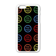 Happy Birthday Colorful Wallpaper Background Apple Iphone 6/6s White Enamel Case by Simbadda