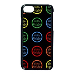 Happy Birthday Colorful Wallpaper Background Apple Iphone 7 Seamless Case (black)
