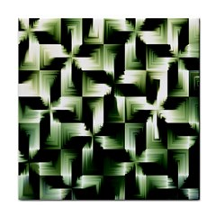 Green Black And White Abstract Background Of Squares Tile Coasters by Simbadda
