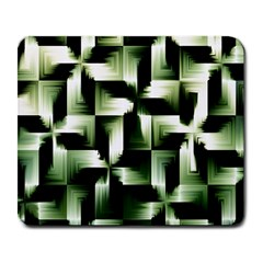 Green Black And White Abstract Background Of Squares Large Mousepads