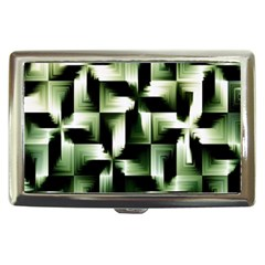 Green Black And White Abstract Background Of Squares Cigarette Money Cases by Simbadda