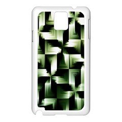 Green Black And White Abstract Background Of Squares Samsung Galaxy Note 3 N9005 Case (white) by Simbadda