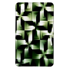 Green Black And White Abstract Background Of Squares Samsung Galaxy Tab Pro 8 4 Hardshell Case by Simbadda