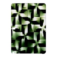 Green Black And White Abstract Background Of Squares Samsung Galaxy Tab Pro 12 2 Hardshell Case by Simbadda