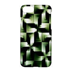 Green Black And White Abstract Background Of Squares Apple Iphone 7 Hardshell Case by Simbadda