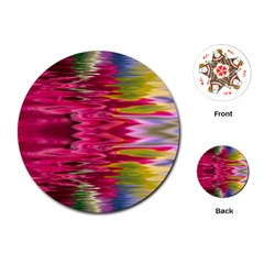Abstract Pink Colorful Water Background Playing Cards (round)  by Simbadda