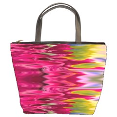 Abstract Pink Colorful Water Background Bucket Bags by Simbadda