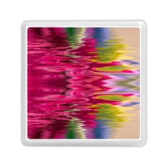 Abstract Pink Colorful Water Background Memory Card Reader (square)  by Simbadda