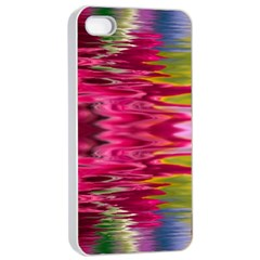 Abstract Pink Colorful Water Background Apple Iphone 4/4s Seamless Case (white) by Simbadda