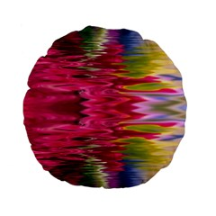 Abstract Pink Colorful Water Background Standard 15  Premium Flano Round Cushions by Simbadda