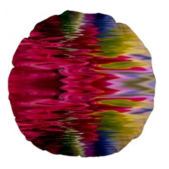 Abstract Pink Colorful Water Background Large 18  Premium Flano Round Cushions