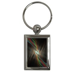 Colorful Waves With Lights Abstract Multicolor Waves With Bright Lights Background Key Chains (rectangle)  by Simbadda