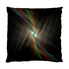 Colorful Waves With Lights Abstract Multicolor Waves With Bright Lights Background Standard Cushion Case (two Sides) by Simbadda