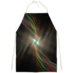 Colorful Waves With Lights Abstract Multicolor Waves With Bright Lights Background Full Print Aprons