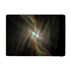 Colorful Waves With Lights Abstract Multicolor Waves With Bright Lights Background Apple Ipad Mini Flip Case by Simbadda