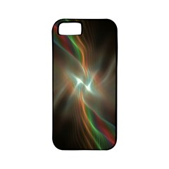 Colorful Waves With Lights Abstract Multicolor Waves With Bright Lights Background Apple Iphone 5 Classic Hardshell Case (pc+silicone)