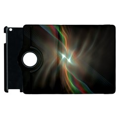 Colorful Waves With Lights Abstract Multicolor Waves With Bright Lights Background Apple Ipad 3/4 Flip 360 Case by Simbadda