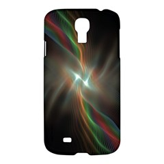 Colorful Waves With Lights Abstract Multicolor Waves With Bright Lights Background Samsung Galaxy S4 I9500/i9505 Hardshell Case