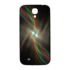 Colorful Waves With Lights Abstract Multicolor Waves With Bright Lights Background Samsung Galaxy S4 I9500/i9505  Hardshell Back Case