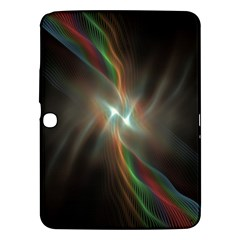 Colorful Waves With Lights Abstract Multicolor Waves With Bright Lights Background Samsung Galaxy Tab 3 (10 1 ) P5200 Hardshell Case