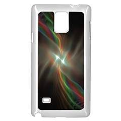 Colorful Waves With Lights Abstract Multicolor Waves With Bright Lights Background Samsung Galaxy Note 4 Case (white)