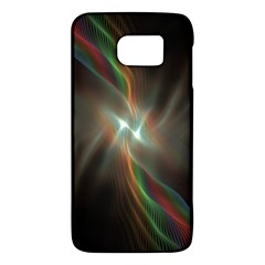 Colorful Waves With Lights Abstract Multicolor Waves With Bright Lights Background Galaxy S6
