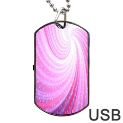 Vortexglow Abstract Background Wallpaper Dog Tag Usb Flash (two Sides) by Simbadda