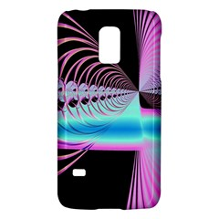 Blue And Pink Swirls And Circles Fractal Galaxy S5 Mini by Simbadda