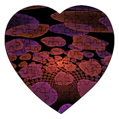 Heart Invasion Background Image With Many Hearts Jigsaw Puzzle (heart)