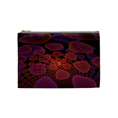 Heart Invasion Background Image With Many Hearts Cosmetic Bag (medium)  by Simbadda