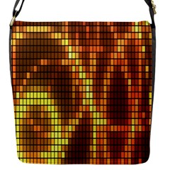 Circle Tiles A Digitally Created Abstract Background Flap Messenger Bag (s)