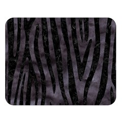 Skin4 Black Marble & Black Watercolor Double Sided Flano Blanket (large) by trendistuff