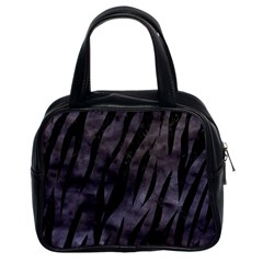 Skin3 Black Marble & Black Watercolor (r) Classic Handbag (two Sides) by trendistuff