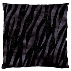 Skin3 Black Marble & Black Watercolor Large Cushion Case (one Side) by trendistuff