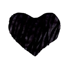 Skin3 Black Marble & Black Watercolor Standard 16  Premium Flano Heart Shape Cushion  by trendistuff