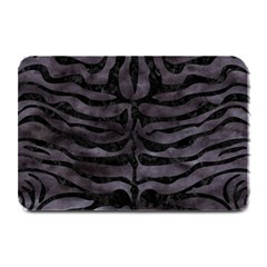Skin2 Black Marble & Black Watercolor (r) Plate Mat by trendistuff