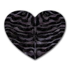Skin2 Black Marble & Black Watercolor Heart Mousepad by trendistuff