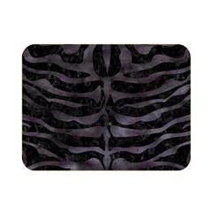 Skin2 Black Marble & Black Watercolor Double Sided Flano Blanket (mini) by trendistuff