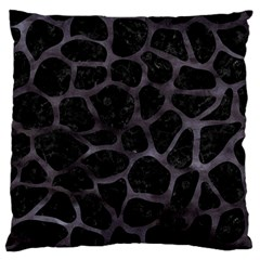 Skin1 Black Marble & Black Watercolor (r) Large Cushion Case (two Sides) by trendistuff