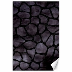 Skin1 Black Marble & Black Watercolor Canvas 24  X 36  by trendistuff