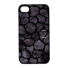 Skin1 Black Marble & Black Watercolor Apple Iphone 4/4s Hardshell Case With Stand by trendistuff