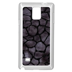Skin1 Black Marble & Black Watercolor Samsung Galaxy Note 4 Case (white) by trendistuff
