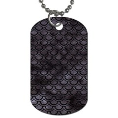 Sca2 Bk Mrbl Bk Wclr (r) Dog Tag (one Side) by trendistuff