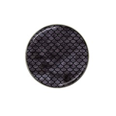 Scales1 Black Marble & Black Watercolor (r) Hat Clip Ball Marker by trendistuff