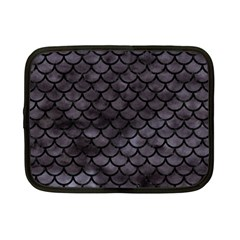 Scales1 Black Marble & Black Watercolor (r) Netbook Case (small) by trendistuff