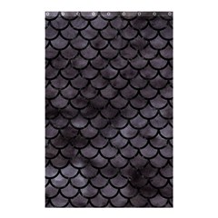 Scales1 Black Marble & Black Watercolor (r) Shower Curtain 48  X 72  (small) by trendistuff