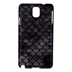 Scales1 Black Marble & Black Watercolor (r) Samsung Galaxy Note 3 N9005 Hardshell Case by trendistuff