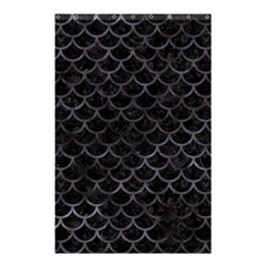 Scales1 Black Marble & Black Watercolor Shower Curtain 48  X 72  (small) by trendistuff