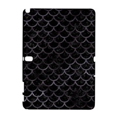 Scales1 Black Marble & Black Watercolor Samsung Galaxy Note 10 1 (p600) Hardshell Case by trendistuff